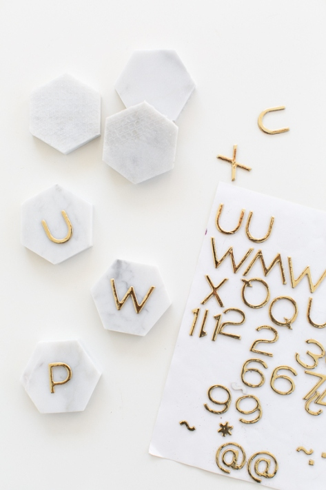 DIY-Marble-Hexagon-Place-Cards-5